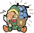 TLoZ Link Carrying Bombs Million Publishing Artwork.png