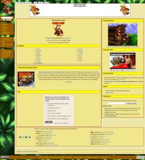 Donkey Kong Wiki's current layout