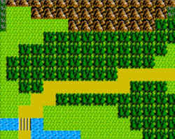 Moruge Forest as it appears in The Adventure of Link