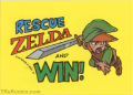 TLoZ Nintendo Game Pack RESCUE ZELDA AND WIN Sticker.png