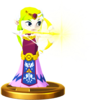 SSBfWU Zelda (Wind Waker) Trophy Model.png