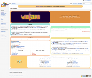 The current layout of WikiBound