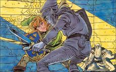 TAoL Link Fighting Link's Shadow Artwork.png