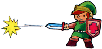 TLoZ Link Shooting Sword Beam Artwork.png