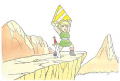 TLoZ Link Holding the Triforce of Wisdom Artwork 3.png