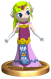 SSBB Zelda (Wind Waker) Trophy Model.png