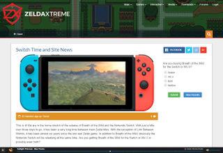 Zelda Xtreme homepage