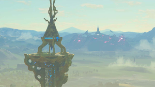 BotW Great Plateau Tower View.png