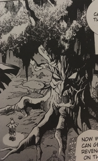 OoT Manga Skull Kid and Baga Tree.png