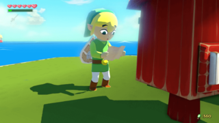 TWWHD Link Reading Letter.png
