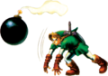 OoT Link Throwing Bomb Artwork.png