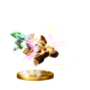 SSBfWU Triforce Slash (Toon Link) Trophy Model.png