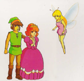 TAoL Link Zelda and Fairy Artwork.png