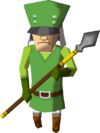 A green-clad Guard from Spirit Tracks