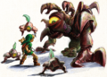 OoT Link Fighting Gohma Artwork.png