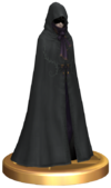 SSBB Robed Zelda (With Hood) Trophy Model.png