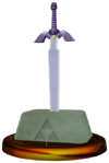 SSBM Master Sword Trophy Model.png