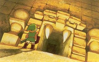 TLoZ Link Entering Dungeon Artwork.png