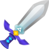 Artwork of the Master Sword from A Link Between Worlds