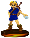 SSBM Young Link (Smash) Trophy Blue Model.png