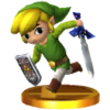 SSB3DS Toon Link Trophy Model.png