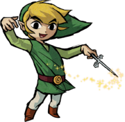 Artwork of Link conducting with the Wind Waker