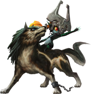 TPHD Wolf Link and Midna Artwork.png