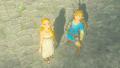 BotW Link Princess Zelda Departing Hyrule Castle.png