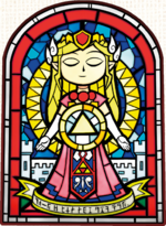 TMC Stained Glass Princess Zelda Artwork.png