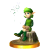 SSB3DS Saria Trophy Model.png
