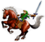 SSBB Epona & Link Sticker Icon.png