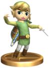 SSBB Toon Link Trophy Model.png