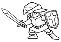 TLoZ Link Holding Sword and Shield Concept Artwork.png