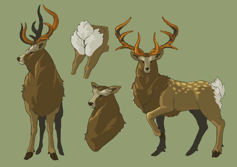 File:BotW Mountain Buck Concept Artwork.jpg