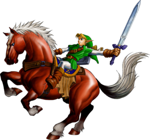 OoT Link Riding Epona Artwork.png