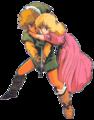 TLoZ Zelda Holding onto Link Newtype Artwork.png
