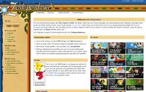 Screenshot of the Zeldapendium Main Page