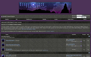 Screenshot of the Ganons Tower Forums