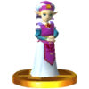 SSB3DS Young Zelda (Ocarina of Time) Trophy Model.png
