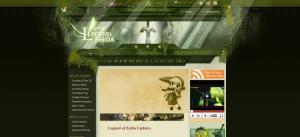 Screenshot of the Hidden Triforce homepage