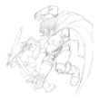 OoT Ganondorf Fight Sketch Artwork.png