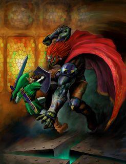 OoT Link Fighting Ganondorf Artwork.jpg